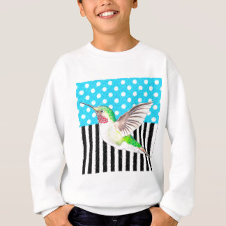Artsy Hummingbird Blue Sweatshirt