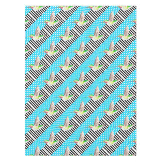 Artsy Hummingbird Blue Tablecloth