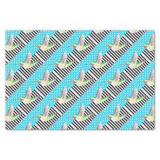 Artsy Hummingbird Blue Tissue Paper