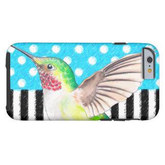 Artsy Hummingbird Blue Tough iPhone 6 Case
