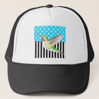 Artsy Hummingbird Blue Trucker Hat