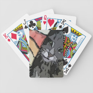 Artsy Kitty Wrapped In A Blanket Poker Deck