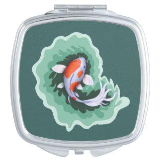 Artsy Koi Fish Makeup Mirror