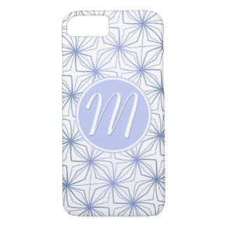 Artsy Light Blue Purple Monogram Case-Mate iPhone Case