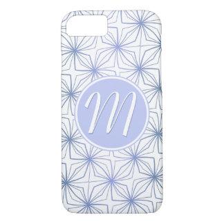Artsy Light Blue Purple Monogram iPhone 8/7 Case