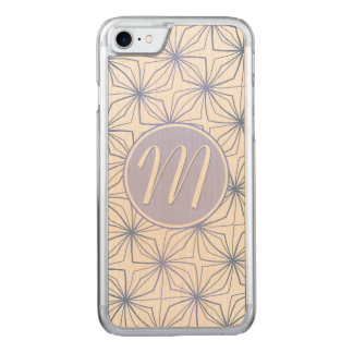 Artsy Light Purple Monogram Carved iPhone 8/7 Case