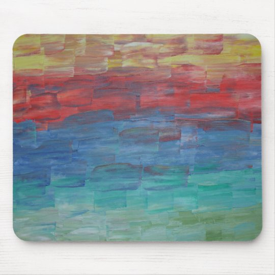 Artsy Mouse Pad Sunset Over Lake