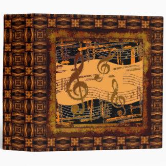 Artsy Musical Grunge Unique Binder