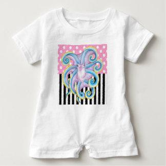 Artsy Octopus Pink Baby Romper