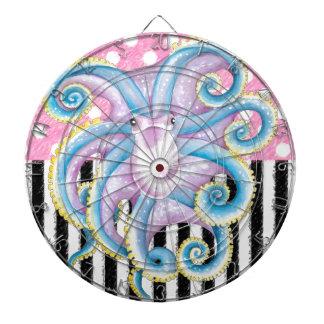 Artsy Octopus Pink Dartboard