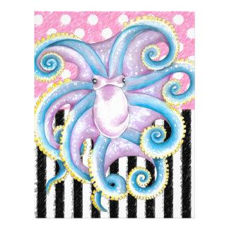 Artsy Octopus Pink Letterhead