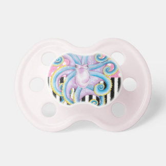 Artsy Octopus Pink Pacifier
