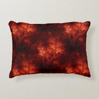 Artsy Orange Trees Decorative Pillow