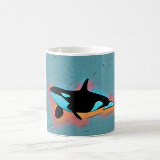 Artsy orca mug