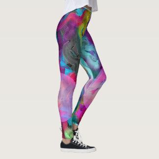 Artsy Paint Swirls of Color Leggings