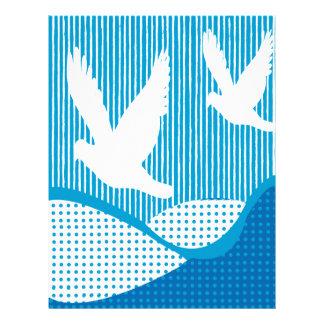 Artsy Peace Scrapbook Paper Custom Letterhead