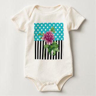 Artsy Peony Blue Baby Bodysuit