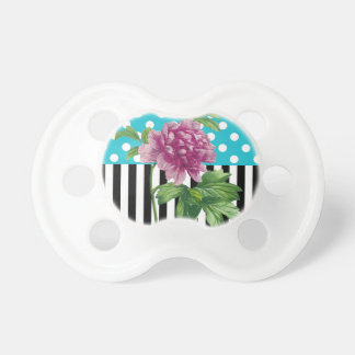Artsy Peony Blue Baby Pacifier