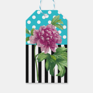 Artsy Peony Blue Pack Of Gift Tags