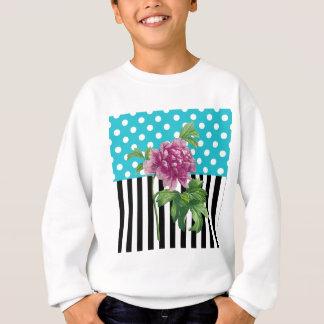 Artsy Peony Blue Sweatshirt