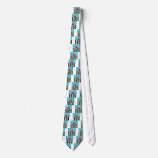 Artsy Peony Blue Tie