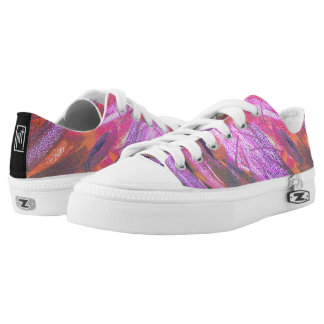 Artsy Pink Colorful Sneakers Shoes