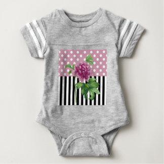 Artsy Pink Peony Baby Bodysuit