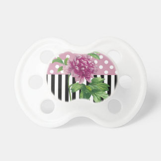 Artsy Pink Peony Baby Pacifier