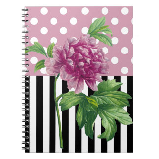 Artsy Pink Peony Notebooks