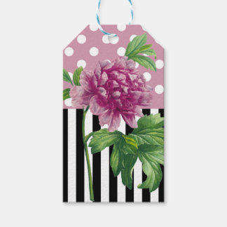 Artsy Pink Peony Pack Of Gift Tags
