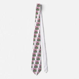 Artsy Pink Peony Tie