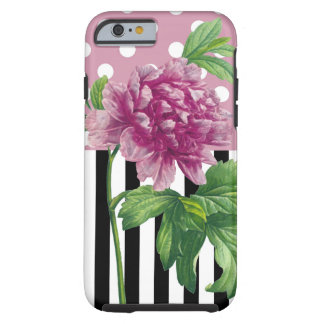 Artsy Pink Peony Tough iPhone 6 Case