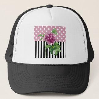 Artsy Pink Peony Trucker Hat