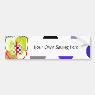 Artsy Polka Dot Butterfly Bumper Sticker Car Bumper Sticker