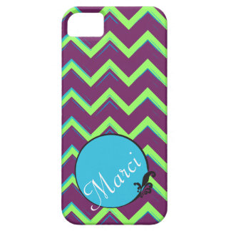 Artsy Purple Blue Chevron w/ Custom Color Scheme iPhone 5 Cover