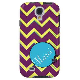 Artsy Purple Blue Chevron w/ Custom Color Scheme Galaxy S4 Case