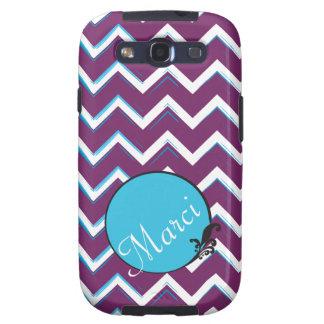 Artsy Purple Blue Chevron w/ Custom Color Scheme Galaxy S3 Case
