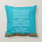 Artsy Retired Nurse Poem Pillow Nright Blue