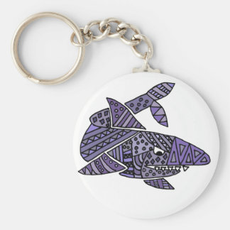 Artsy Shark Basic Round Button Keychain