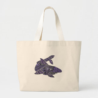 Artsy Shark Large Tote Bag