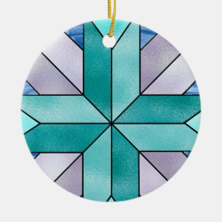 ARTSY - Stained Glass Round Ceramic Ornament