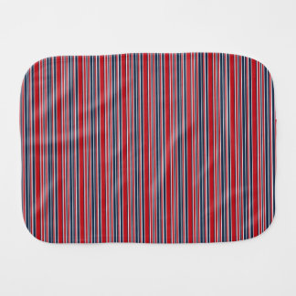 Artsy Stripes in Patriotic Red White and Blue Baby Burp Cloths