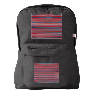 Artsy Stripes in Patriotic Red White and Blue Backpack