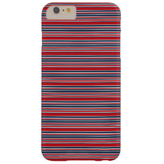Artsy Stripes in Patriotic Red White and Blue Barely There iPhone 6 Plus Case