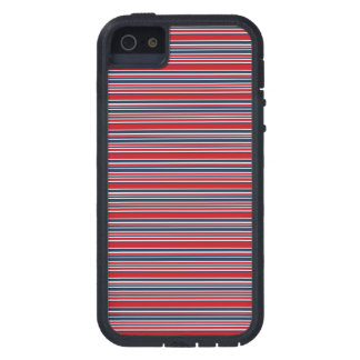 Artsy Stripes in Patriotic Red White and Blue iPhone 5 Cases