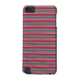 Artsy Stripes in Patriotic Red White and Blue iPod Touch (5th Generation) Cover