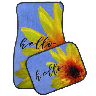 Artsy Sunflower Bold Bright Hello Sunshine Car Mat