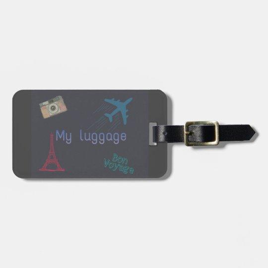Artsy travel luggage tag