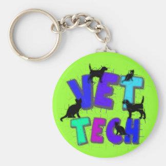 Artsy Vet Tech Gifts, Unique artist drawn design Keychain