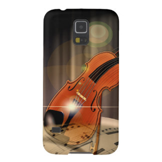 Artsy Violin Music Case For Galaxy S5